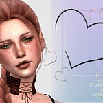 Stoneheart Earrings Sims 4 CC