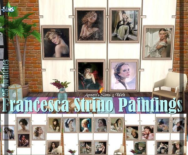 Strino Paintings sims 4 cc