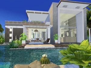 Sunset Breeze House Sims 4 CC