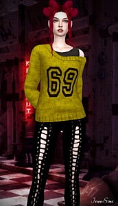 Sweater Off Shoulders sims 4 cc
