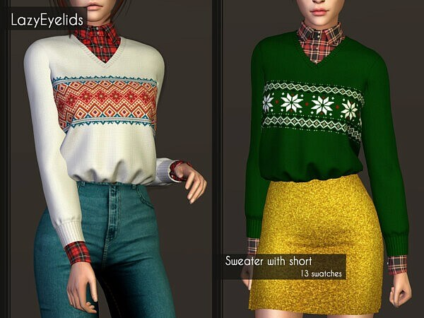 Sweater with shirt