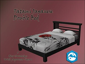 Tatami Japanese Double Bed Sims 4 CC
