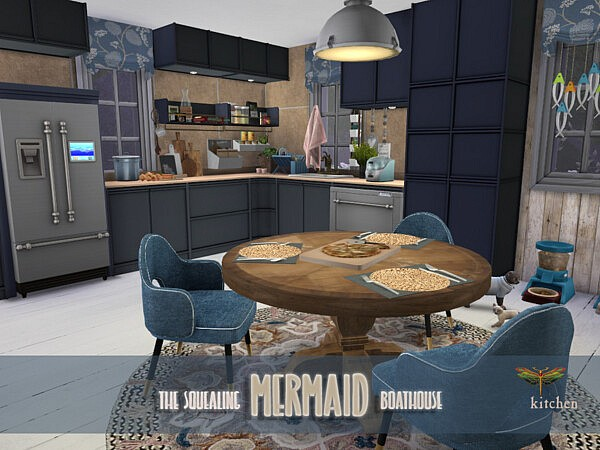The Squealing Mermaid Boathouse Kitchen Sims 4 CC
