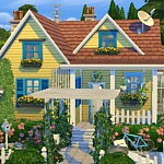 Tiny Spring Cottage sims 4 cc