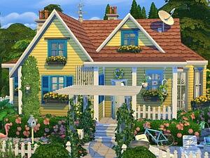 Tiny Spring Cottage sims 4 cc