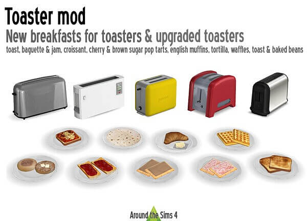 Toaster mod from Around The Sims 4