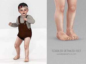 Toddler Detailed Feet Sims 4 CC