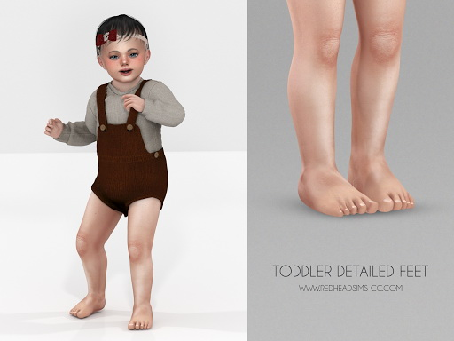 Toddler Detailed Feet Sims 4 CC