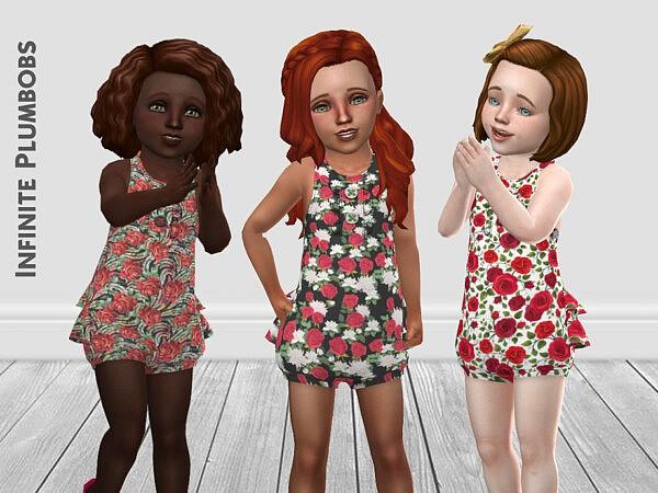 Toddler Rose Romper Sims 4 CC