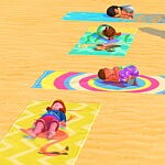 Toddlers can use Beach Towels sims 4 cc
