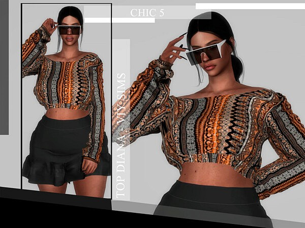 Chic V Top Diana by Viy Sims from TSR