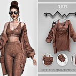 Top and Cardigan Sims 4 CC