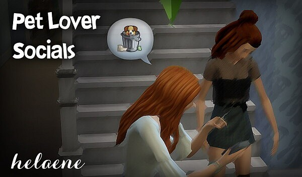 Trait Extras: Pet Lover Social Interactions by helaene