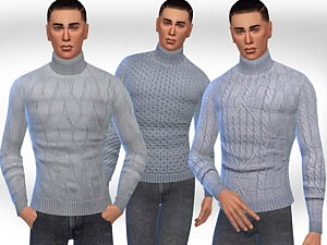 Turtle Neck Pullovers Sims 4 CC
