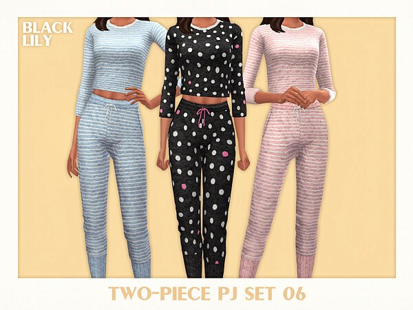 Two Piece PJ Set 06 by Black Lily from TSR
