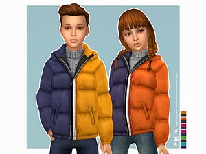 Two Tone Jacket for Kids Sims 4 CC