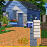 Up The Garden Path Floor and Wall Set sims 4 cc