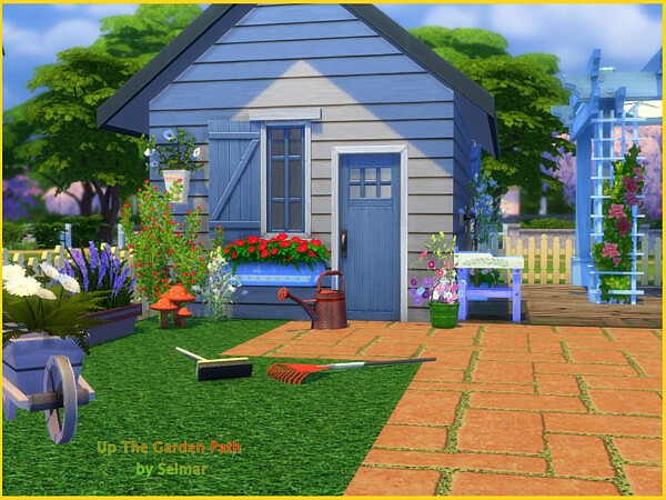 Up The Garden Path Garden Set sims 4 cc