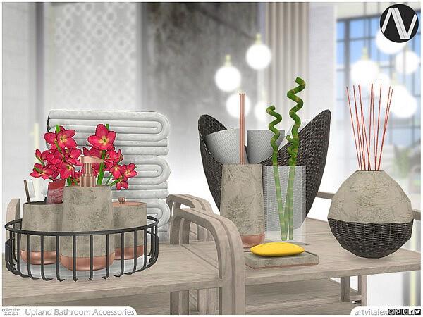 Upland Bathroom Accessories Sims 4 CC