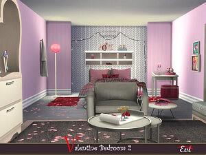 Valentine Bedroom 2 Sims 4 CC