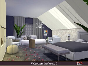 Valentine Bedroom Sims 4 CC