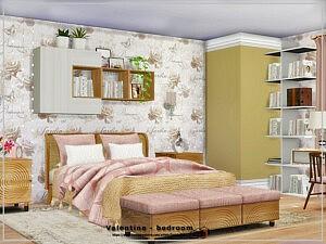 Valentine bedroom Sims 4 CC 1