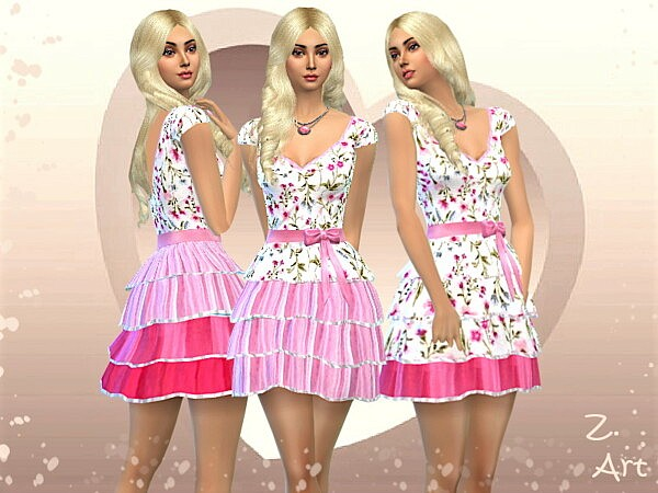 ValentineZ. Sims 4 Dress
