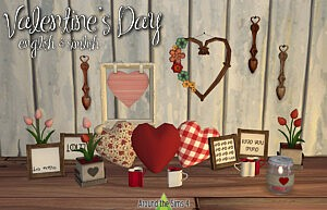 Valentines Day Decoration Sims 4 CC