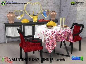 Valentines Day Dinner Sims 4 CC
