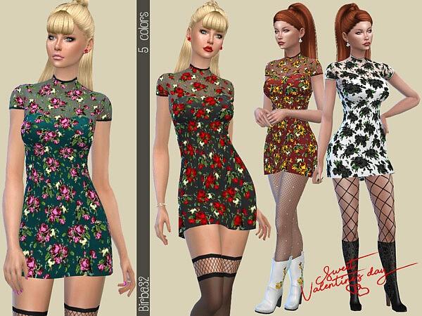 Valentines dress Sims 4 CC