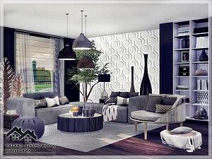 Valeri Living Room for Sims 4 CC