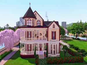Victorian Haunted House Sims 4 CC