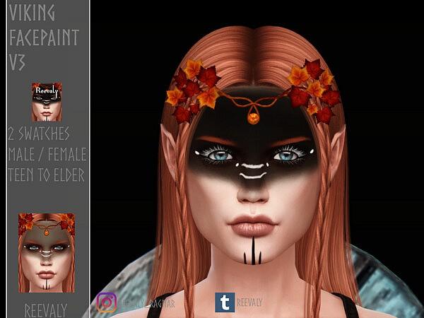 Viking Facepaint V3 Sims 4CC