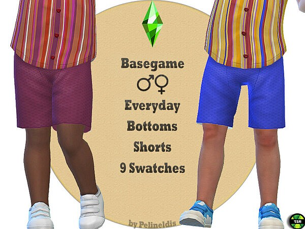 Wafer Cotton Shorts Sims 4