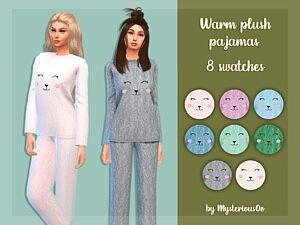 Warm plush pajamas sims 4 cc