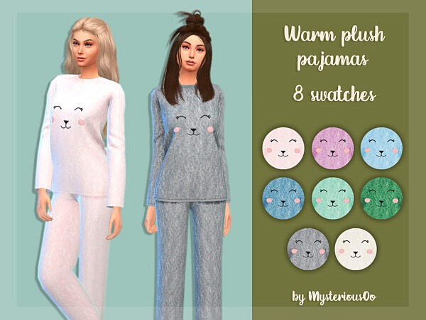 Warm plush pajamas by MysteriousOo from TSR