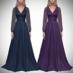 Waterfall Gown Sims 4 CC