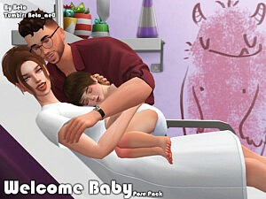 Welcome Baby Pose Pack sims 4 cc