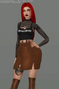 Willow skirt sims 4 cc