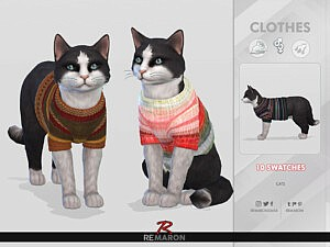 Winter Sweater for Cats 01