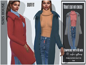 Women's coat with sweater by Sims House
