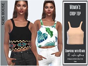 Womens crop top sims 4 cc