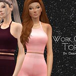 Work Out Top sims 4 cc