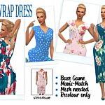 Wrap Dress sims 4 cc