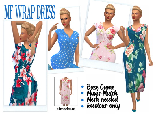 Wrap Dress from Sims 4 Sue