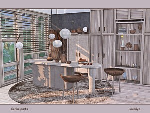 Xenia Livingroom Sims 4 CC1