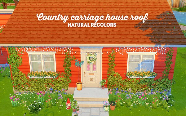 country carriage house roof sims 4 cc