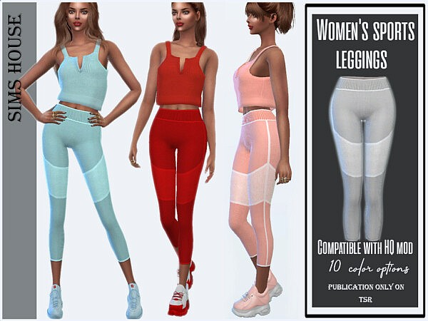 Sports leggings by Sims House from TSR