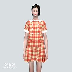 1 A Cute Pleats Mini Dress V2 sims 4 cc