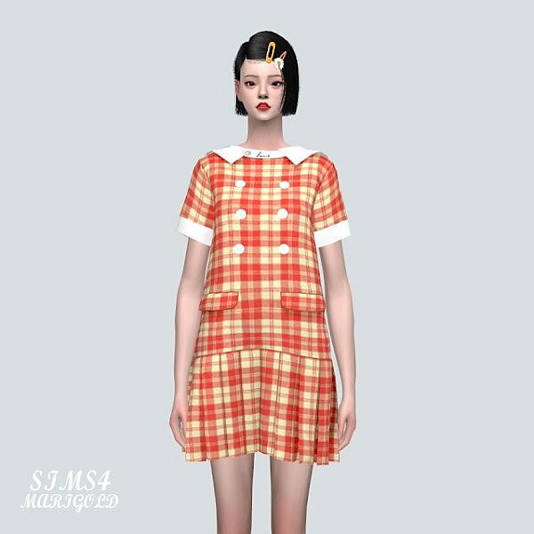 1 A Cute Pleats Mini Dress V2 from SIMS4 Marigold